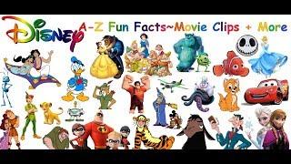 Los Personajes de Disney A-Z Disney Alfabeto y Hechos Divertidos!