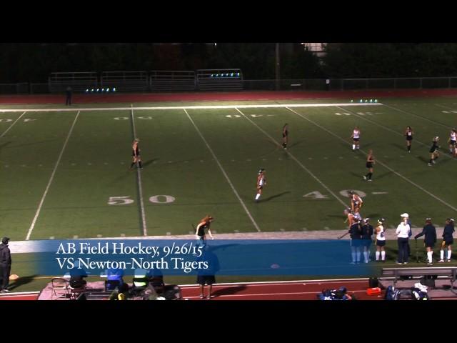 Acton Boxborough Varsity Field Hockey at Newton North 9/26/15
