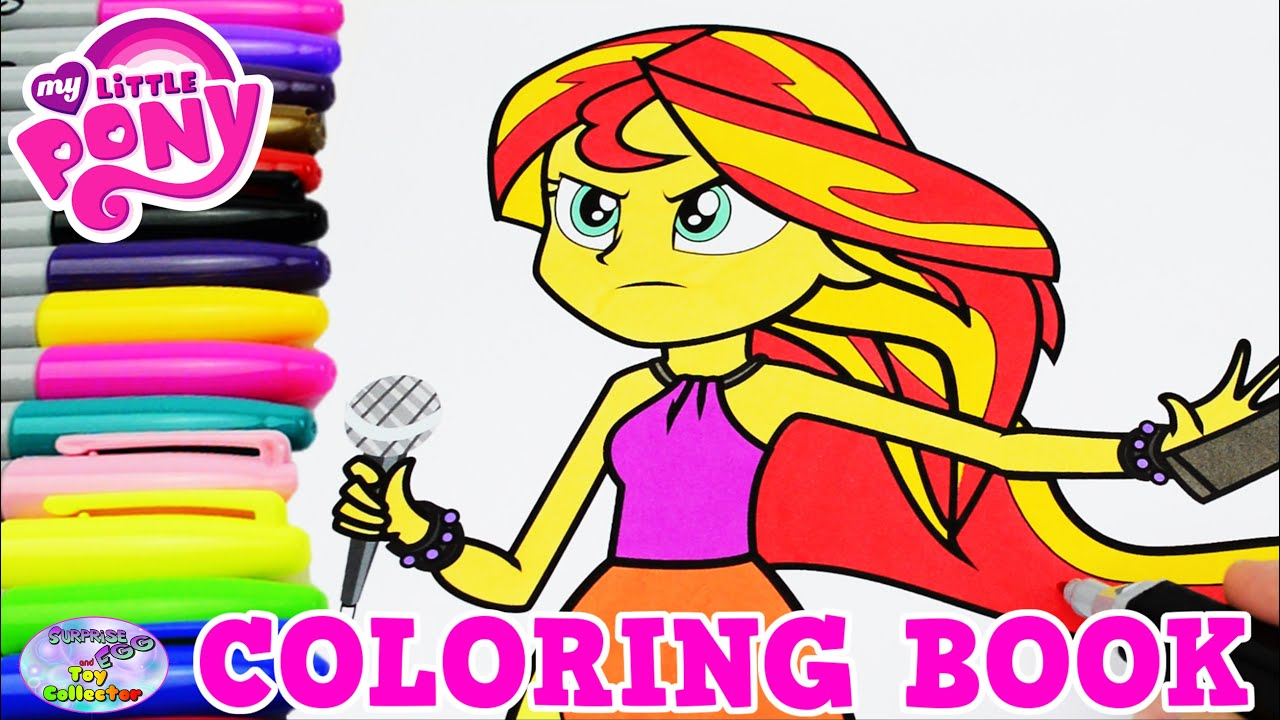 My Little Pony Coloring Book Sunset Shimmer Episode MLPEG Surprise Egg And Toy Collector SETC