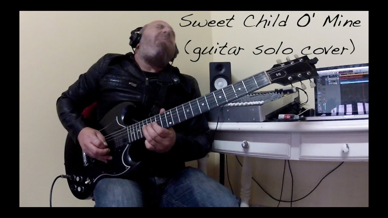 sweet child o 39 mine guitar solo cover youtube. Black Bedroom Furniture Sets. Home Design Ideas