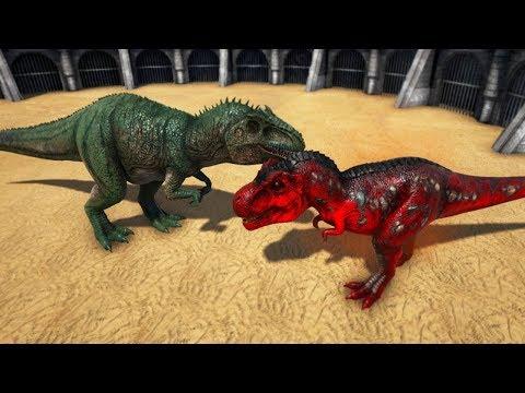 T-REX ALPHA VS GIGANOTOSAURUS | ARK: Survival Evolved