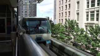 Ride the Monorail through Seattle - Seattle Center Monorail, cousin of Disney monorails