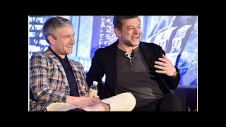 """Black Panther's Martin Freeman and Andy Serkis on being the only white guys on set: """"this is what b"""