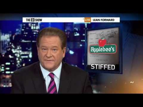 Applebee's Waitress Chelsea Welch fired; Pastor Alois Bell Complains About Giving a Tip