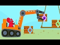 Baby Dino Play Powerful Machines - Excavator Fun Game For Kids