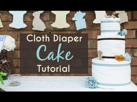 Cloth Diaper Cake Tutorial Youtube