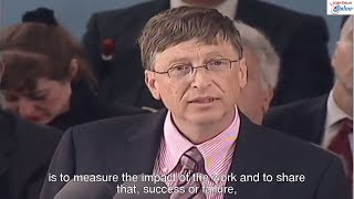 Learn English with Bill Gates Speech at Harvard Commencement Address - English Subtitle