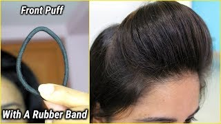 1 min front puff for thin hair/easiest way to make front puff