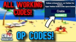 CRAB SIMULATOR CODES 2019 [Roblox] | FACE REVEAL YAY!!