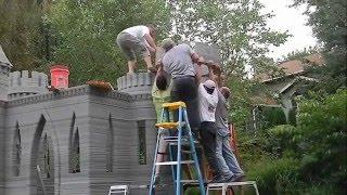 طباعة منزل بإستخدام طابعة ثلاثية الابعاد تستخدم الاسمنت