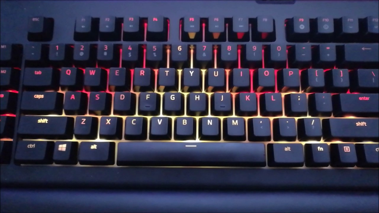 Razer Blackwidow Chroma V2 lighting - YouTube
