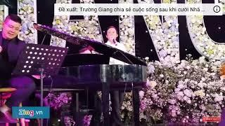 Nghệ sĩ Hoài Linh hát trong đám cưới Trường Giang và Nhã Phương.