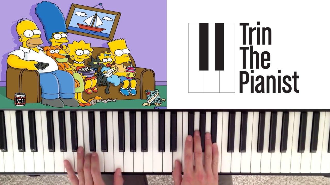 Como Tocar Los Simpsons En Piano Tutorial Facil Y Partitura Youtube