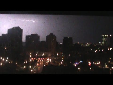 Rain World 2 - thunderstorm from a penthouse | ambient rain sounds