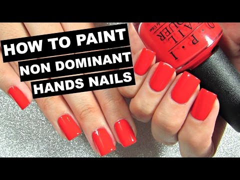 How To Paint Your OTHER Hand's Nails Perfectly!