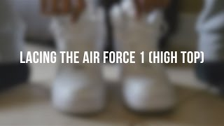 FACTORY SETTING LACES sort of (NIKE AIR FORCE 1 HIGH 2007 LACE UP)