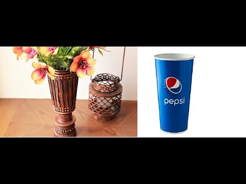 Paper cup craft ideas||How to make an Antique copper vase from disposable Paper cup||Paper cup vase