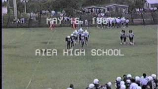1987 aiea high school green and white football game