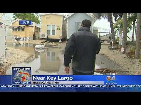 Water In Key Largo Rising On Irma Surge