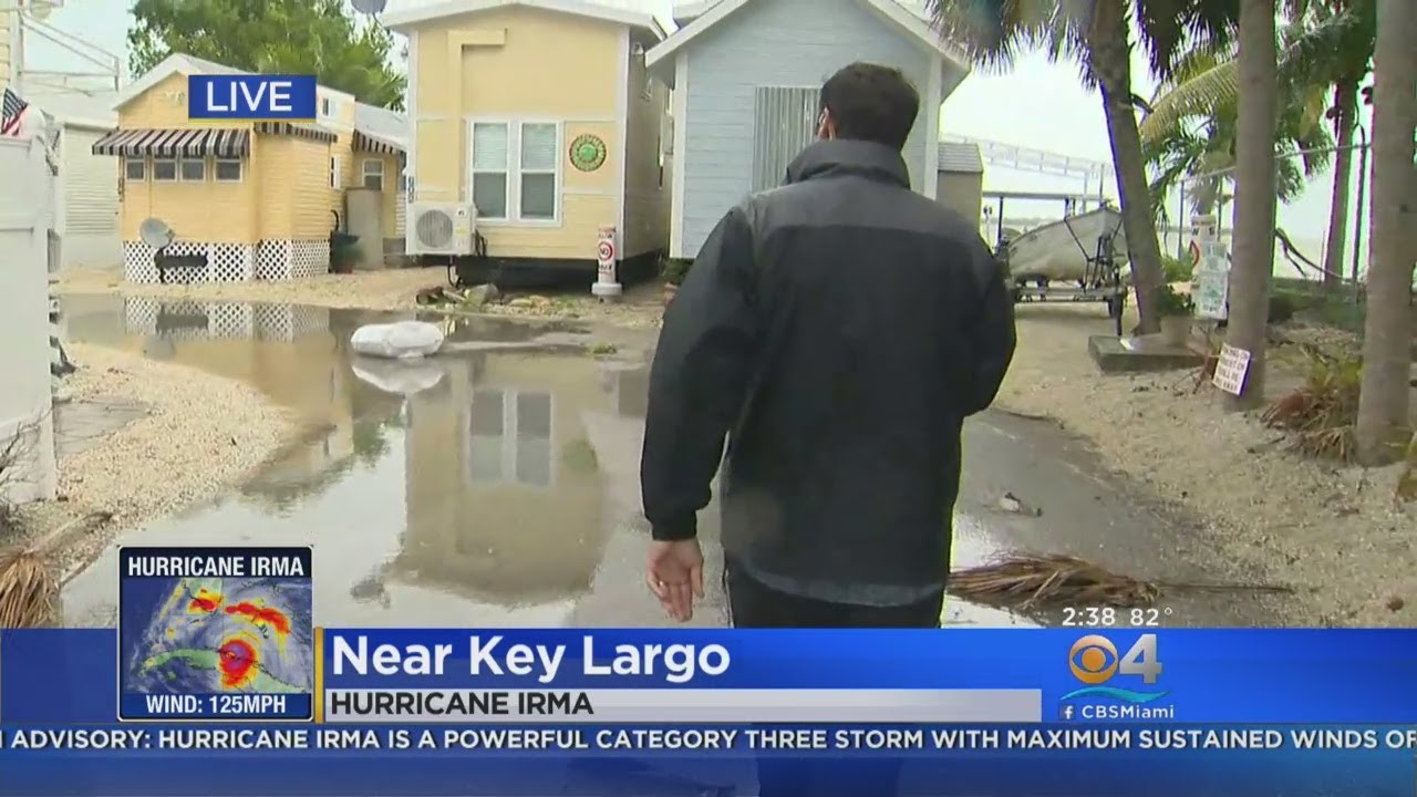 Water In Key Largo Rising On Irma Surge Youtube