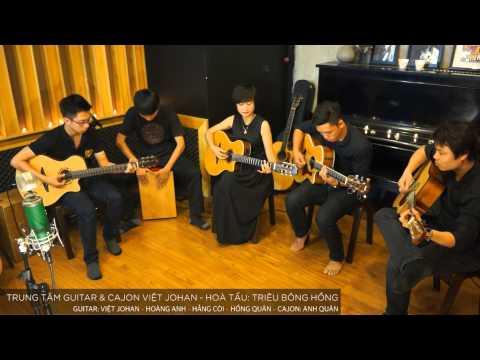 Triệu bông hồng ( Live Session - lớp guitar & cajon Việt johan ).