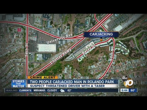 Two people carjacked man in Rolando Park