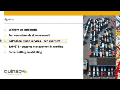 SAP GTS (Global Trade Service) | Quinso | Quality in Solutions