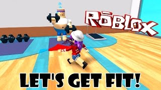 ROBLOX LET'S PLAY ESCAPE THE GYM OBBY | LET'S GET FIT! | RADIOJH GAMES