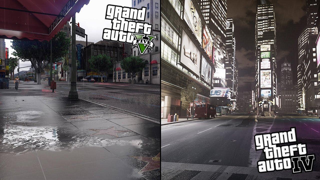 GTA 5 vs GTA 4 | COMPARISON |