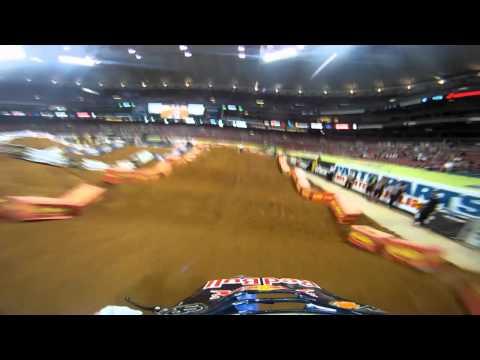 GoPro HD:  Kyle Regal Practice - St. Louis Monster Energy Supercross 2011