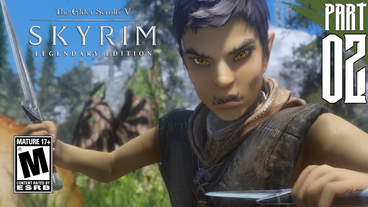 【SKYRIM 200+ MODS】 Orc Gameplay Walkthrough Part 2 [PC - HD]
