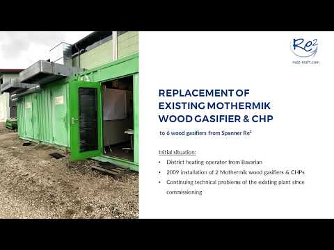 Diesel generator replacement / Repowering power generators with wood gasification | Spanner Re² GmbH