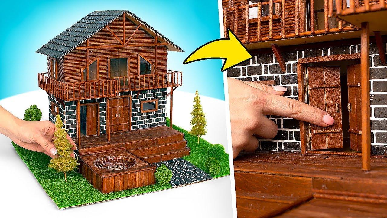 Como construir uma casa de luxo com papelão e palitos de madeira