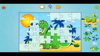Educational Dinosaur Fun Jigsaw Puzzle Video For Kids Apps Gameplay