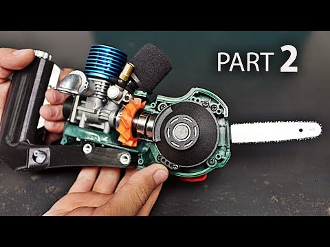 Micro Nitro Chainsaw   Part 2   Fuel Tank, Handle, Throttle Arm