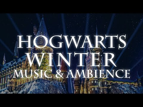 Winter at Hogwarts | Snow Ambience with Harry Potter and Fantastic Beasts Music (Remastered)