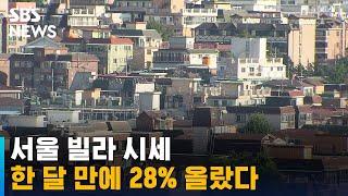 서울 빌라 시세 한 달 만에 28% 올랐다 / SBS