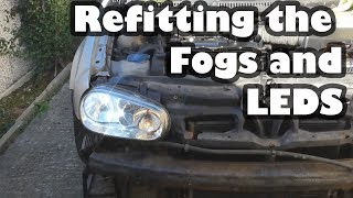 Upgrading The Project Shed sHeadlights and bulbs! - Volkswagen Golf Mk4