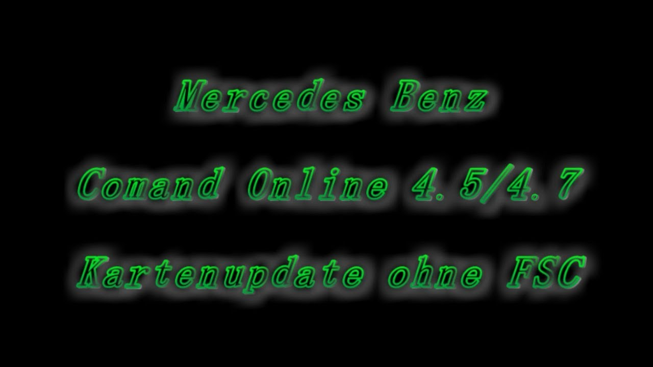 Comand NTG 4 5/4 7 Kartenupdate ohne FSC!