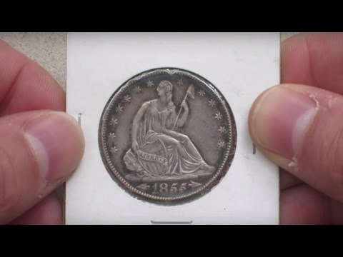 Closer Look At A Sweet 1855-o Seated Liberty Half Dollar I Just Got!