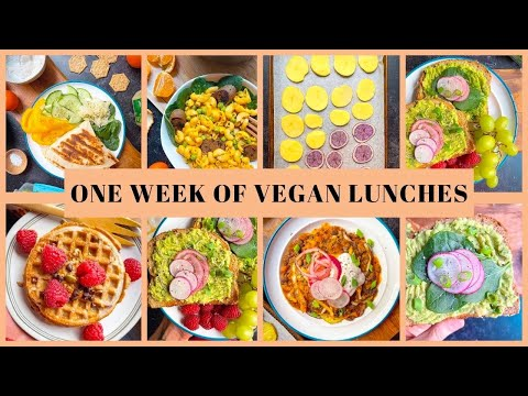 One Week of Vegan Lunches - MONDAY through FRIDAY LUNCH IDEAS