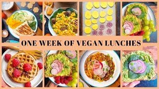 One Week of Vegan Lunches  MONDAY through FRIDAY LUNCH IDEAS