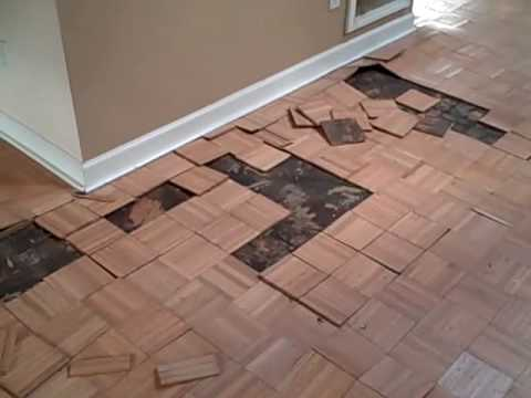 Cracked Foundation And Bad Parquet Flooring Youtube