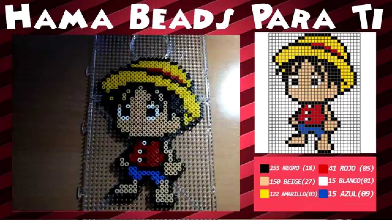 Bekannt Luffy (One Piece) - Tutorial Hama Beads - YouTube QC11