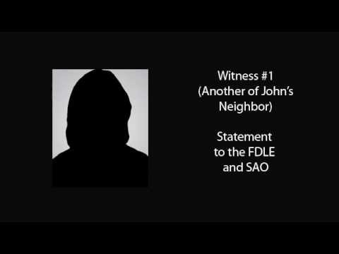 Discovery: Witness #1, Statement to the FDLE and SAO