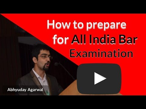 How to prepare for All India Bar Examination