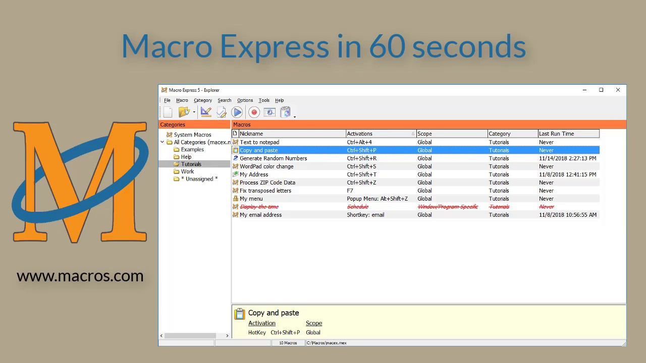 Macro Express – Macros for your Windows Automation Needs