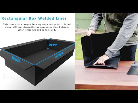 Rectangular Box-Welded Pond Liners Overview - Everything-Ponds.com