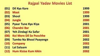 Hindi movies featuring rajpal yadav list