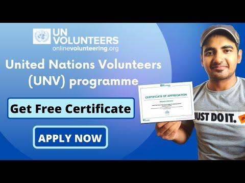 UN Online Volunteer Program For Everyone | Get Free Certificate From United Nation | Volunteer Work